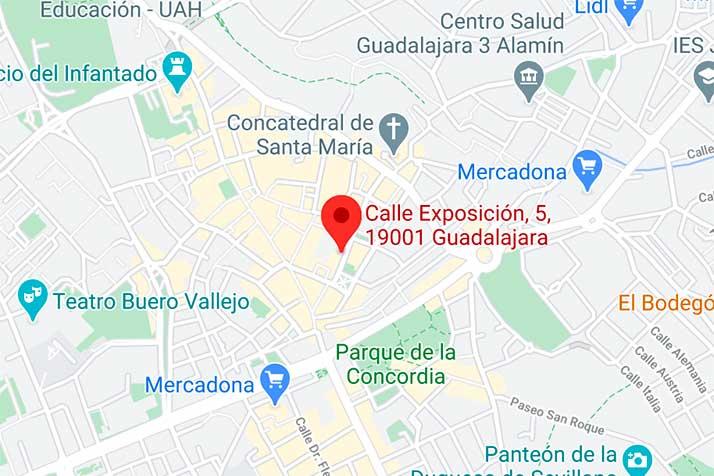 Óptica en Guadalajara. Federopticos Caren. Mapa